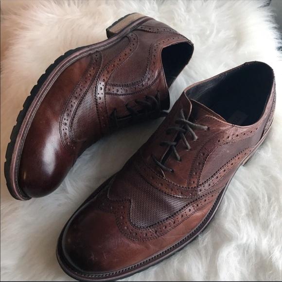f0b18fee5a8 Steve Madden wingtip cognac brogues loafers